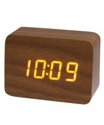 CREPHA PLUS/PLUS DECO プラスデコ 目覚まし時計 インテリアクロック ウッド LED 木調 小型【IAC-5656】/502466171