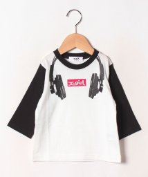 X-girl Stages/ヘッドフォンプリントラグラン長袖Tシャツ/502467767