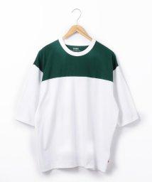 coen/USAコットン切替フットボールハーフスリーブTシャツ/502467955