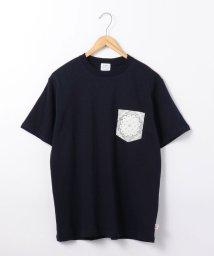 coen/USAコットンバンダナ柄ポケットTシャツ/502467956