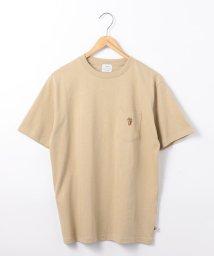 coen/USAコットンベア刺繍ポケットTシャツ/502467957