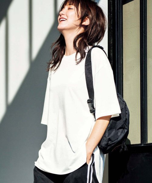 GeeRa(ジーラ)/綿100%ビッグシルエットTシャツ     /204403