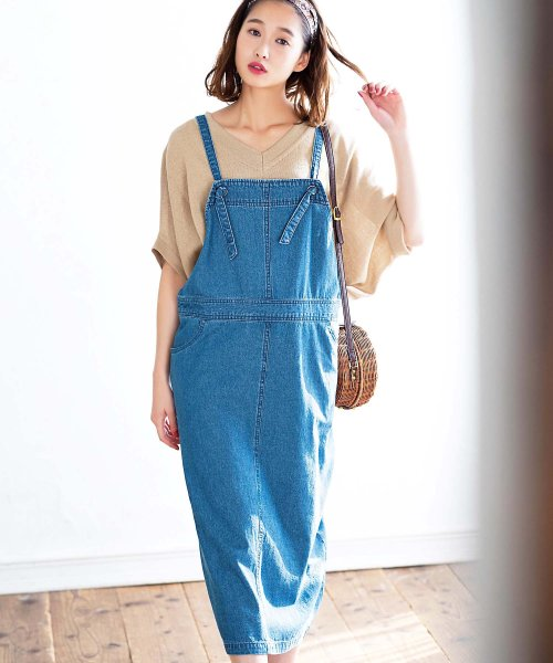 GeeRa(ジーラ)/綿100%サロペットスカート        /204438