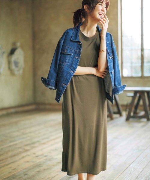 GeeRa(ジーラ)/ポケット付カットソーロングワンピース    /204625