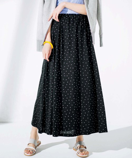 GeeRa(ジーラ)/洗えるCOOLFIBERフレアーロングスカート/204612