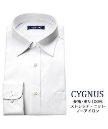 YAMAKI BRAND/CYGNUS 長袖 セミワイドカラー ワイシャツ/502476288