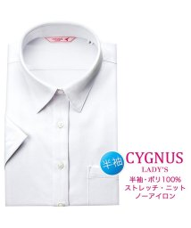 YAMAKI BRAND/CYGNUS 半袖 レギュラーカラーショートカラー ブラウス/502476291