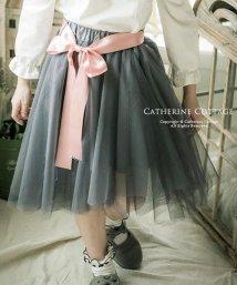 Catherine Cottage/アシンメトリーチュールスカート【ウエストリボン付き♪】/502477137