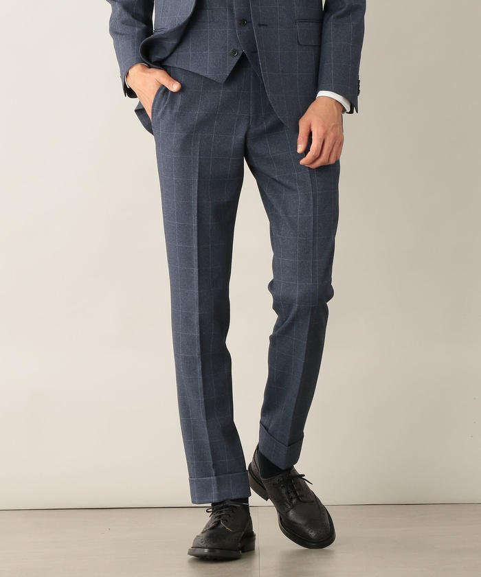 TROTTER extresolid TROUSERS ウィンドウペンストレッチ