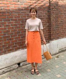 CHERRYKOKO/CHERRYKOKO(チェリーココ)リネン混紡Iラインスカート/502468301