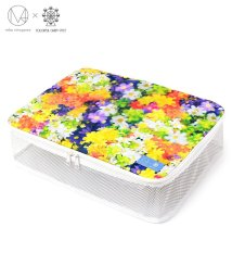 BOTANY&WATERCOLORS/トラベルポーチ 大 オレンジイエロー(オックス)  【mika】/502474558