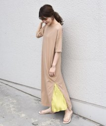 SHIPS WOMEN/otonaMUSE×SHIPS プリーツスカート付きTEEシャツドレス/502479717