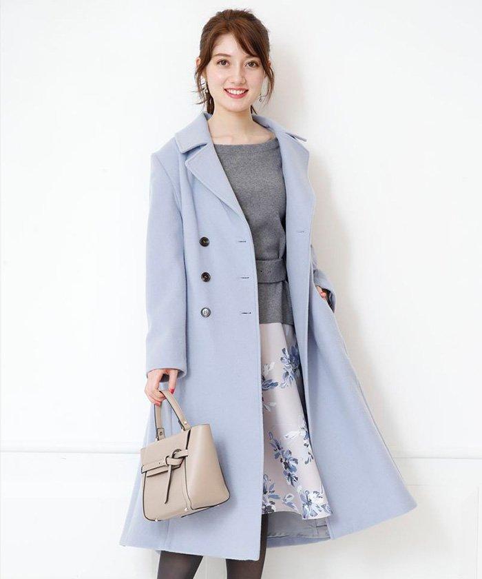 【美人百花12月号掲載】ベルテッドカラーコート