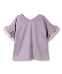 branshes/袖花柄フリル5分袖Tシャツ(90~150cm)/502479973
