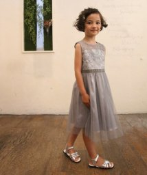 Eimy Peal by POWDER SUGAR Kids/【ドレスライン】オーガンジー刺繍×チュールスカートドレス/502474125