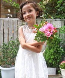 Eimy Peal by POWDER SUGAR Kids/【ドレスライン】オーガンジー×スパンコール刺繍ドレス/502474126