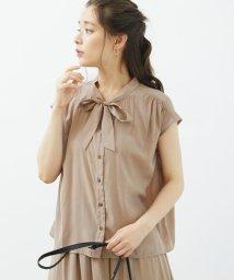 ROPE' PICNIC/【セットアップ対応商品】無地&花柄ボウタイブラウス/502478230