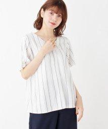 pink adobe/袖口フェイクパールピンアソートブラウス/502483474