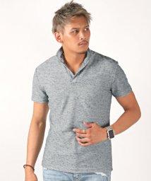 LUXSTYLE/杢デザインイタリアンカラー半袖ポロシャツ/ポロシャツ メンズ イタリアンカラー 半袖 杢 杢調/502483841