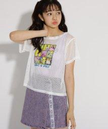 PINK-latte/メッシュ転写 Tシャツ+タンクトップ セット/502484034