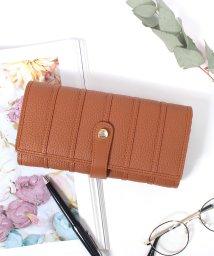 Clelia/長財布 レディース 大容量 マルチカラー ストライプ アコーディオン ウォレット/501510977