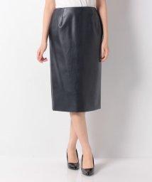 Leilian/フェイクレザータイトスカート/502447541