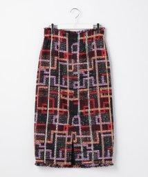 Ravissant Laviere/ファンシーツイードチェックタイトスカート/502454063