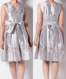 Eimy Peal by POWDER SUGAR/配色フラワー刺繍ドレス/502478322