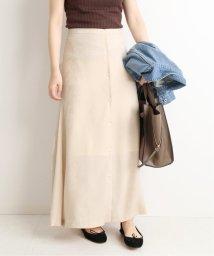 SLOBE IENA/サテンフロントボタンスカート◆/502487358