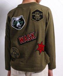 WASK/バックワッペンTシャツ(110cm~130cm)/502460663