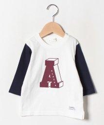 b-ROOM/アルファベットプリント切り替えTシャツ/502476499