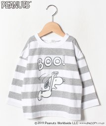 b-ROOM/スヌーピー ボーダービッグTシャツ/502476502
