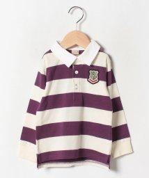 petit main/ボーダー長袖ラガーシャツ/502476506