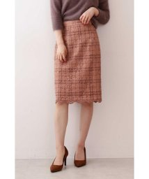 PROPORTION BODY DRESSING/チェックフロッキーレースタイトスカート/502488164