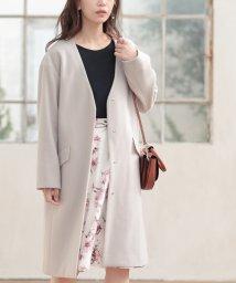 LAISSE PASSE/★【MAGASEEK/d fashion限定カラー】Vカラーゆるコート/502457067
