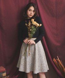 Noela/ベルト配色ツイードスカート/502485861
