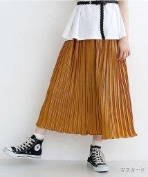 merlot/ランダムサテンプリーツスカート/502490339
