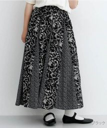 merlot/花柄パッチワークフレアスカート/502490368