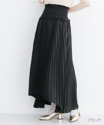 merlot/ウエストシャーリングプリーツスカート/502490376