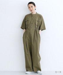 merlot/ワークポケットコットンジャンプスーツ/502490417