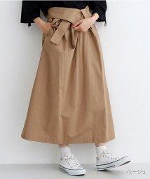 merlot/ウエスト折り返しラップ風スカート/502490418