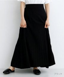 merlot/ストライプフレアニットスカート/502490424
