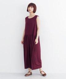merlot/ギャザー切替ワイドパンツオールインワン/502490456
