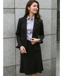 m.f.editorial/ストレッチウォッシャブル ポンチ1釦ジャケット+スカート 黒/502491268
