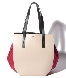 MARNI/【MARNI】トートバッグ/GUSSET【ANTIQUE WHITE+RED+BLACK】/502436468