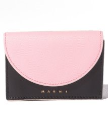 MARNI/【MARNI】3つ折り財布/LAW【CINDER ROSE+BLACK+ANTIQUE WHITE】/502436471