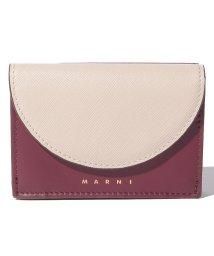 MARNI/【MARNI】3つ折り財布/LAW【ANTIQUE WHITE+RUBY+CHESTNU】/502436472