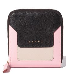 MARNI/【MARNI】2つ折り財布/VANITOSI【BLACK+ANTIQUE WHITE+CINDER ROSE】/502436473