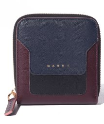 MARNI/【MARNI】2つ折り財布/VANITOSI【NIGHT BLUE+BLACK+WINE】/502436474