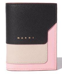 MARNI/【MARNI】2つ折り財布/VANITOSI【BLACK+ANTIQUE WHITE+CINDER ROSE】/502436477